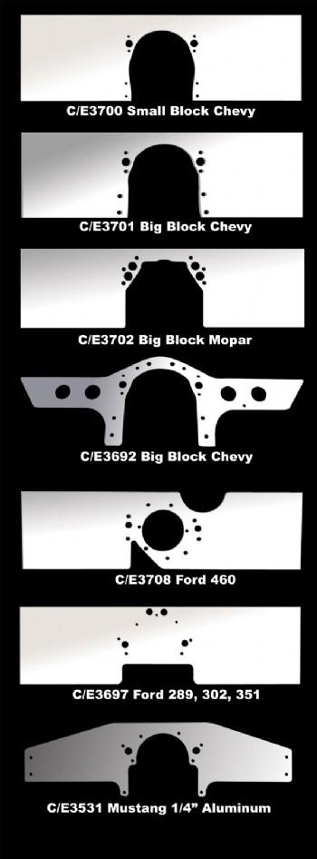 Aluminum Front Motor Plates