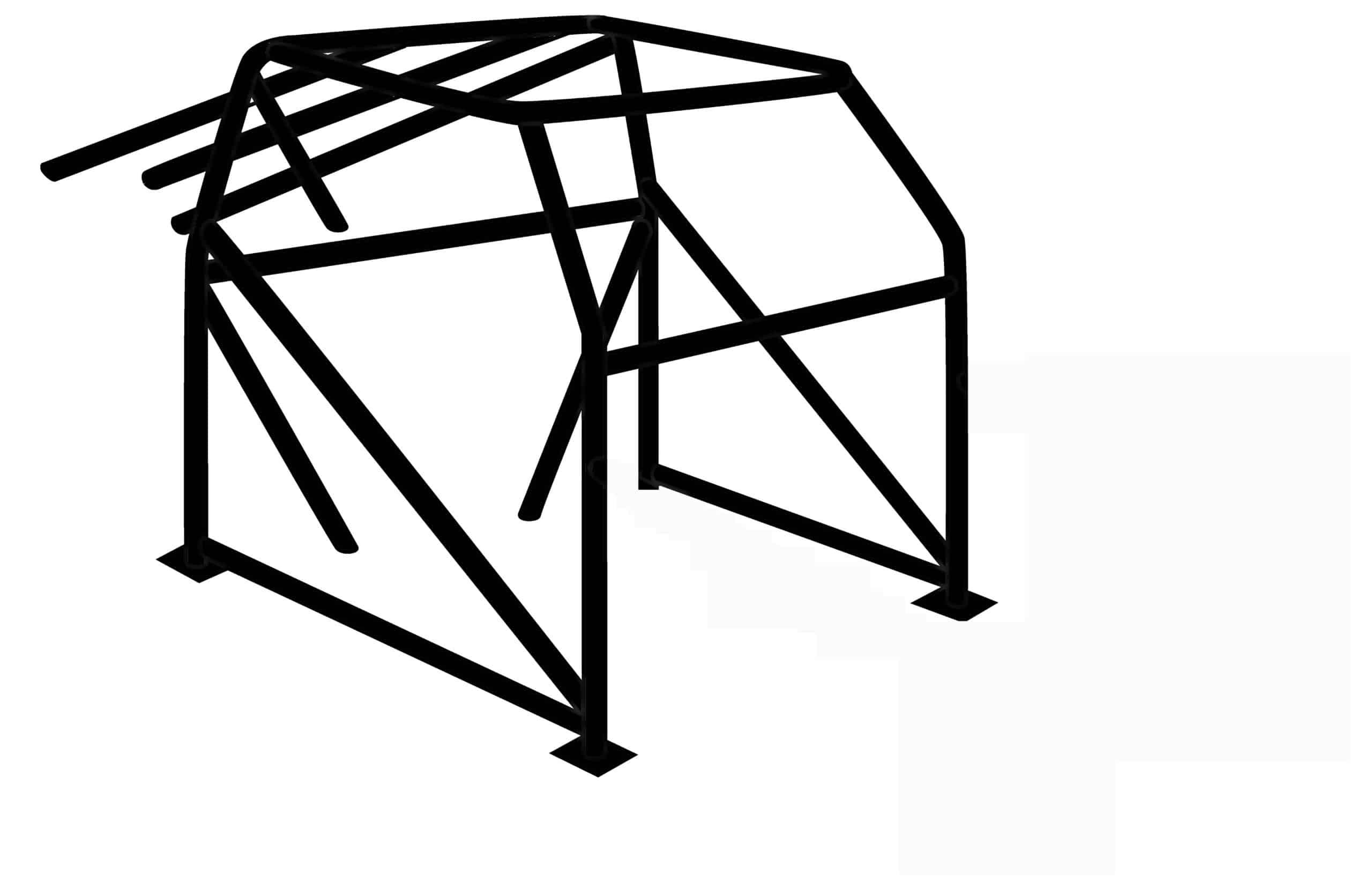 "C/E0600 -10-Pt. Roll Cage: 1-3/4"" x .134"" Mild Steel"