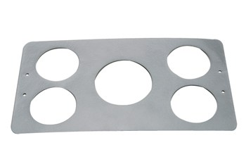 "C/E5600 -Three hole panel for 2-5/8"" gauges"