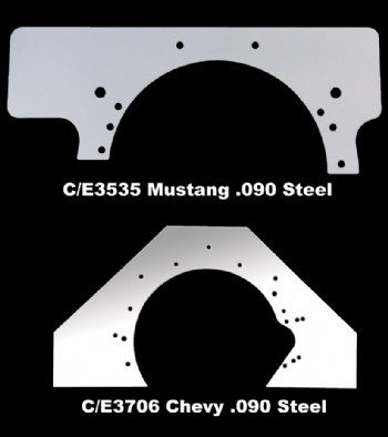 Chassis Engineering 3706 Steel Mid Plate for Chevy