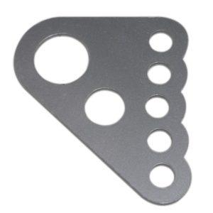 """C/E3718-1m - Chrome Moly Ladder Bar Crossmember Bracket for 1-3/4"""" tube. (ea)"""