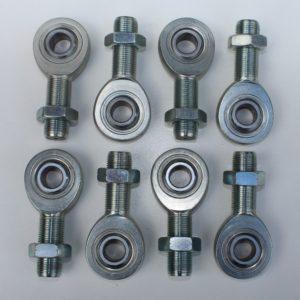 "C/E3506 -3/4"" x 5/8"" Chrome Moly Rod End Kit (4 Lft & 4 Rt Rod Ends &Jam Nuts)"