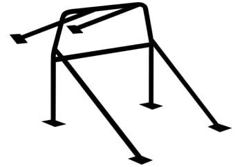 """C/E0400 -6-Pt. Roll Bar 1-3/4"""" x .134""""  Mild Steel"""