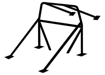"C/E0500 -8 point Roll bar 1-3/4"" x .134"" Mild steel"