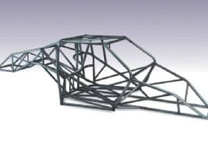 "C/E5000 -Eliminator X Chassis Kit 1-5/8"" x .134"" Mild Steel (Funny Car Cage Included)"