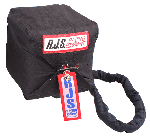 RJS800-1014 10FT. - 4 line Parachute (Black) w/nylon bag and pilot