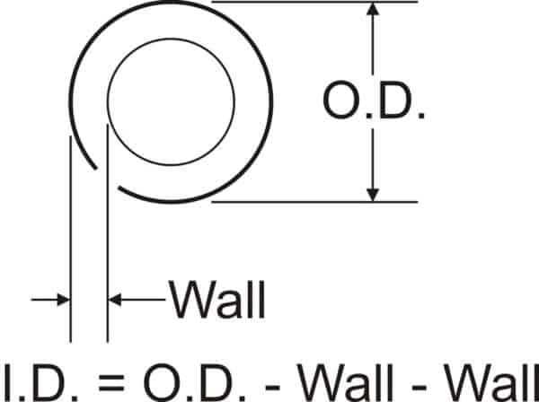 """MIS1102 -5/16"""" O.D.. x .058"""" WALL DOM"""