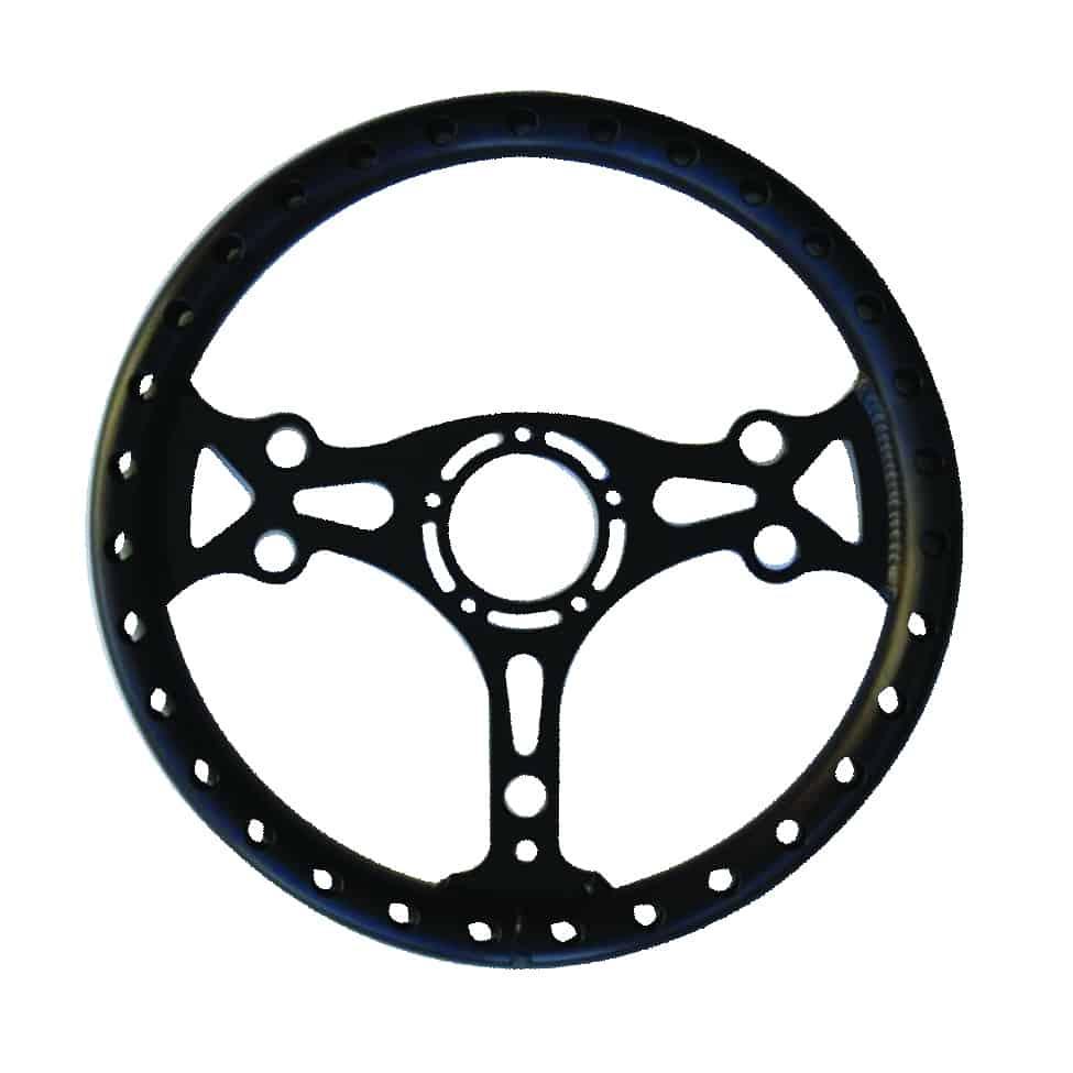 C/E2741 - Ultra-light Aluminum Competition Steering Wheel (Black)